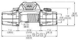 WARN 89120 ZEON 12 12000 lb Premium Series Winch Roller Fairlead 80' Cable 12V