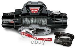WARN 95950 ZEON 12S 12000 lb Premium Series Winch 80' Synthetic Rope Hawse 12-S