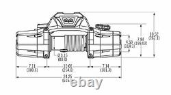 Warn 89611 ZEON 10-S Winch with Synthetic Rope 10000 lb. Capacity
