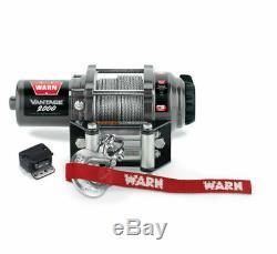 Warn 90502 V2000 VANTAGE Electric Winch, 2,000 lbs YAMAHA GRIZZLY KODIAK