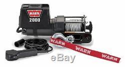 Warn 92000 2000 LB DC Series 12 Volt Electric Winch For ATV UTV SXS Trailer