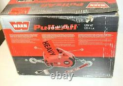 Warn Corded PullzAll 885000 Electric Winch 120V 1000 lb 15ft Steel Cable Rope