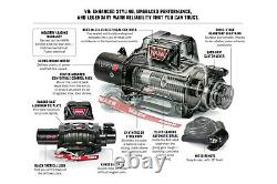 Warn Evo VR8 8000 LB Self-Recovery Electric Winch with 94ft of Wire Rope