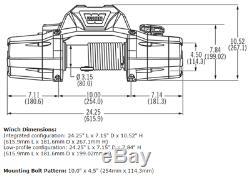 Warn Zeon 8-s Premium Winch Synthetic Rope, Hawse Aluminum Fairlead 8000 Lb