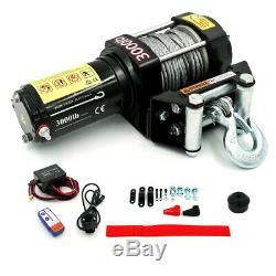Wild Bear DC 12V 4500lbs Single Line Electric Winch Steel Cable Fit Car ATV UTV