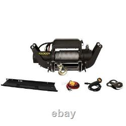 Winch Kit Speed Mount Hitch Adapter Truck Jeep 3.6 HP DC Wound Motor 10,000 lb