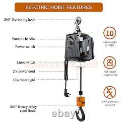 Wireless Electric Crane Hoist Winch Lifting HandHeld 500KG/1100LBS, 220V