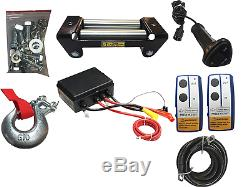 X-BULL12V Wireless Steel Cable 13000LBS/5897KGS Electric Winch for 4WD 4x4 Off
