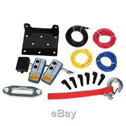 X-BULL 12V 4500LBS Electric Synthetic Rope ATV Winch Kits Off Road with Wirel