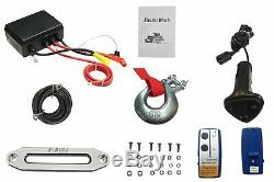 X-BULL 12V Synthetic Rope Electric Winch 13000 lb. Load Capacity