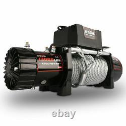 X-BULL 13000LBS 12V Electric Winch Steel Cable OffRoad Jeep Truck Towing Trailer