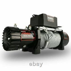 X-BULL 13000LBS 12V Electric Winch Steel Cable Recovery Winch Towing truck 4WD