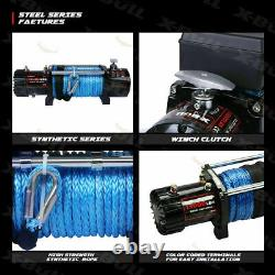 X-BULL 13000LBS Electric Winch Synthetic Towing Trailer Remote Control Off-Road#
