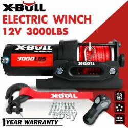 X-BULL 3000LBS 12V Electric Winch ATV UTV BOAT Synthetic Rope Arrival MID-MAY