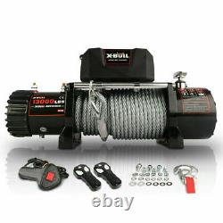 X-BULL Electric Car Winch 12V waterproof Steel Cable 13000lb with Corded Control
