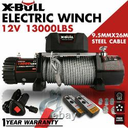 X-BULL Electric Winch 12V 13000LBS Steel Cable OffRoad Jeep TruckTowingTrailerAA