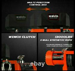X-BULL Electric Winch 12V 13000LBS Synthetic Rope Jeep Trailer Towing Truck 4WD