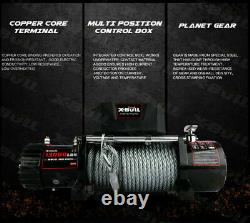 X-BULL Electric Winch 13000LBS 12V Towing Truck Trailer Steel Cable Off-Road 4WD