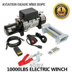 10000lbs 12v Electric Recovery Winch & Accs. Expédition Gratuite Hors Route Par Voie Terrestre