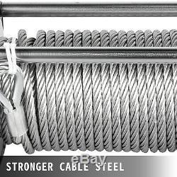 10000lbs Treuil Électrique 12v 80ft Câble D'acier De Camion De Remorquage Hors Route 4 Roues Motrices