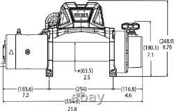 103254 Avertissez Vr12 Evo 12 000 Treuil Électrique Auto-récupération Lb Avec 80 Pieds De Câble Métallique