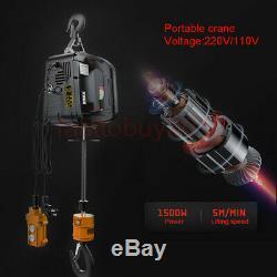 1100 Lb Grue Électrique Câble Hoist Ascenseur Garage Auto Shop Winch Withremote 110v