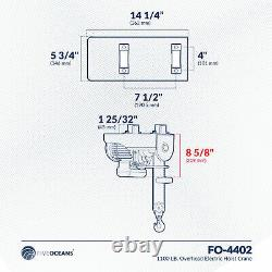 1100 Lb. Grue Palan Électrique Suspendu Avec Télécommande Sans Fil Fo-4402