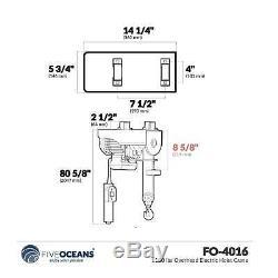 1100 Lbs Grue Palan Électrique Overhead Five Oceans Fo-4016-1