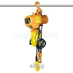 1100lbs Palan Électrique Winch Grue / 2200lbs Outil De Corde Chaîne À Distance Par Câble De Levage