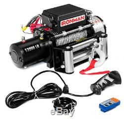 12000 Lbs 12v Électrique De Récupération Winch Truck Suv Télécommande Sans Fil Ip67