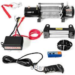 12000 Lbs Électrique 12v Télécommande Sans Fil Winch At5271 Wc