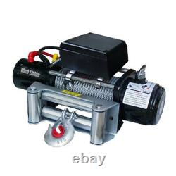 12000lbs 12v 6.6hp Electric Recovery Winch Truck Suv Wireless Remote Control Kit