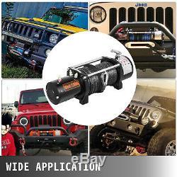 12000lbs Électrique De Récupération Winch Truck Suv 4 Roues Motrices À Distance Durable Contrôle Synthétique