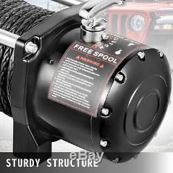 12500lb Treuil Électrique 12v Synthétique Câble Hors Route Vtt Utv Camion De Remorquage Remorque