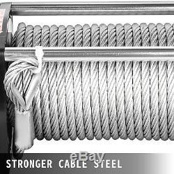 12500lbs Treuil Électrique 12v Câble D'acier Hors Route Vtt Utv Camion De Remorquage Remorque