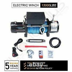 12v 13000lbs Electric Winch Synthetic Rope Truck For Jeep Offroad Trailer 4x4