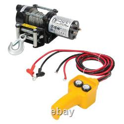 12v 2000lbs Electric Recovery Winch Steel Rope A Pris Le Contrôle De Boat & Trailer