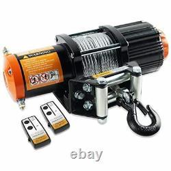 12v 4500lb Kit De Treuil Électrique De Vtt Utv 2pcs Télécommande Sans Fil Automobile