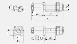 12v 6000lbs 2722kg Bateau De Voiture De Camion Universel De Câble D'acier De Treuil Électrique Atv Utv