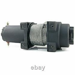 12v 6000lbs 2722kg Câble Électrique De Treuil Électrique En Acier Atv Utv Camion Bateau
