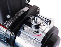 12v Treuil Électrique 8000lb Récupération Camion Remorque Vtt Suv 5.5hp Remorquage Crochet De La Courroie