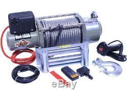 12v Winch Electrique 4x4 16800lbs, 4200w 5.6ps Moteur, 28m Longueur Cable Ø12mm, Nouveau