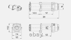12v X6000 6000lbs 2722kg Câble Électrique En Acier De Treuil 4x4 Camion Bateau Vtt Utv