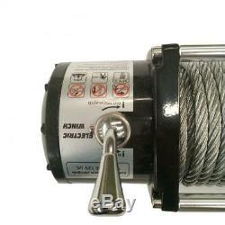 13000lbs 12 / 24v Treuil De Remorquage Camion Vus Imperméable À L'eau Télécommande Câble D'acier