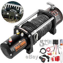 13000lbs Électrique Winch12v Synthétique Corde Hors Roadatv Utv Camion De Remorquage Remorque