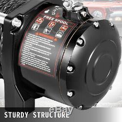 13000lbs Treuil Électrique 12v Corde Synthétique Hors Route Vtt Utv Camion De Remorquage Remorque