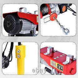 1320lb Mini Electric Wire Cable Hoist Winch Crane Lift Overhead + Télécommande