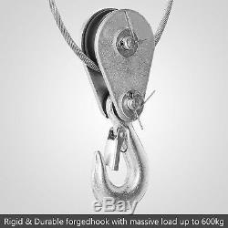 1320lbs Électrique De Levage Treuil De Levage Moteur De La Grue Supports De Crochet De Levage Aérien