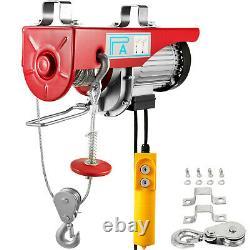 1320lbs Hoist Électrique 600kg Wire Remote Control Garage Auto Shop Highhead Lift