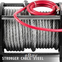 17000lbs Treuil Électrique 12v Câble D'acier Hors Route Vtt Utv Camion De Remorquage Remorque